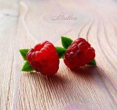 серьги с малиной, украшения с малиной, авторские украшения, ягодные украшения, украшения с ягодами, ягодные серьги  / raspberry barrette,  earings with raspberries, jewelry with raspberries, designer jewelry, berry jewelry, jewelry with berries, berry earings