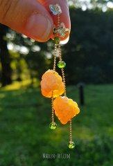 raspberry earrings, berry earrings, raspberry jewelry, wedding jewelry, raspberry, swarovski crystals / серьги с малиной, ягодные серьги, украшения с малиной, свадебные украшения, малина, сваровски кристаллы